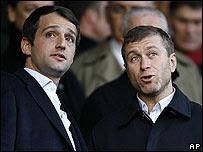 Roman Abramovich (right) with fellow tycoon Arkady Gaidamak