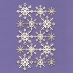 324 Tekturka - Śnieżynki 04 -  zestaw