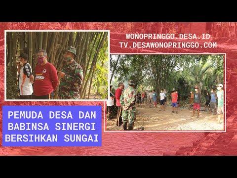 Pemuda Desa dan Babinsa Sinergi Bersihkan Sungai