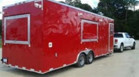 fully loaded  ft food concession trailer cargo craft