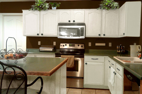 Brown And White Kitchens Pthyd
