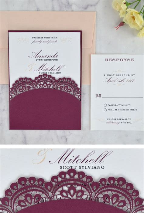Lace Doily Laser Wedding Invitation   The perfect elegant