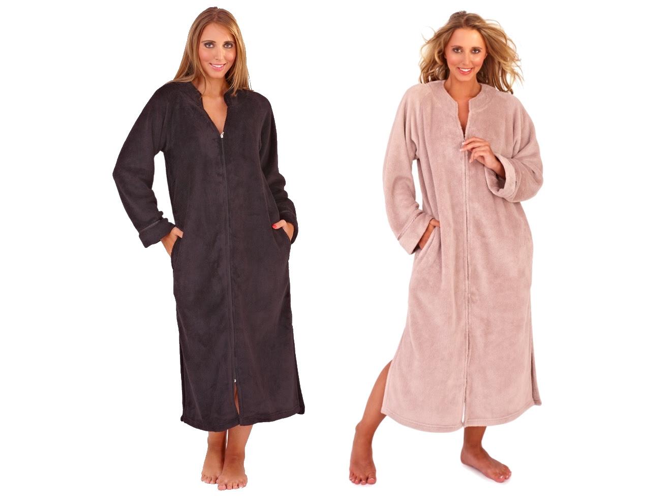 Timeless Design Abe24 1e3e0 Zip Up Dressing Gowns Uk