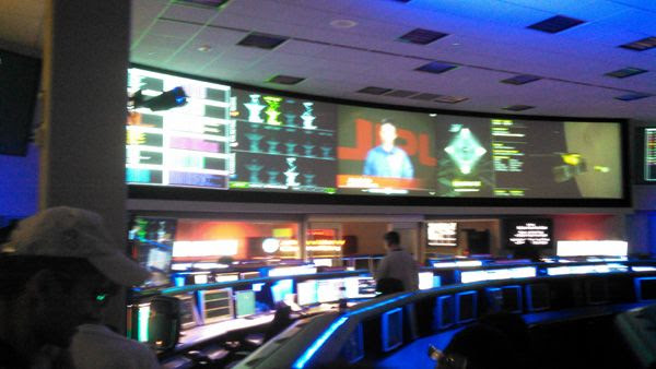 Visiting the Space Flight Operations Facility at NASA's Jet Propulsion Laboratory near Pasadena, CA...on October 12, 2014.
