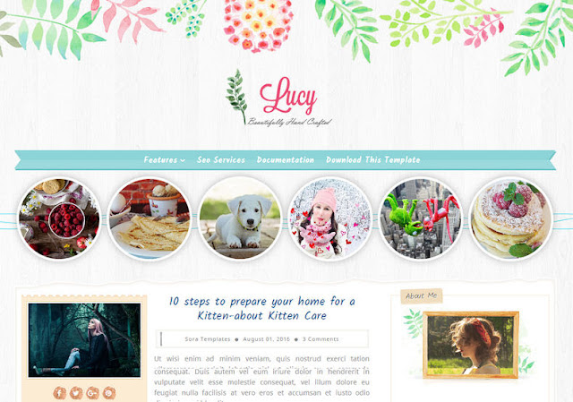 Lucy Beauty Blogger Template