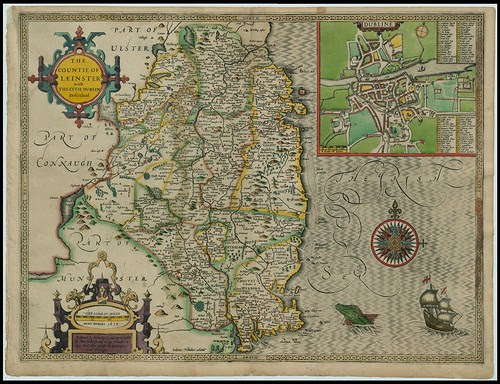 The Countie of Leinster, Ireland - John Speed proof maps 1605-1610