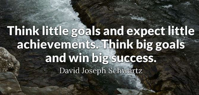 Motivational Quotes And Images About Think Big With Your Goals And