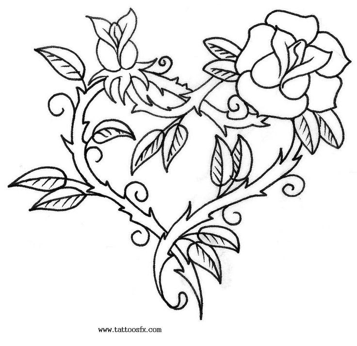 Rose Tattoos Drawing At Getdrawingscom Free For Personal Use Rose