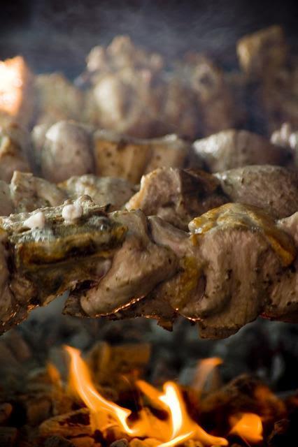 Souvlaki a traditional Cyprus food.