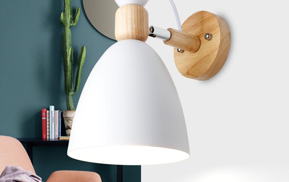 Beste koop hout eenvoudige creatieve wandlamp led slaapkamer
