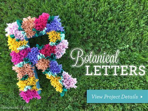 DIY Wedding Decor Using Floral Letters
