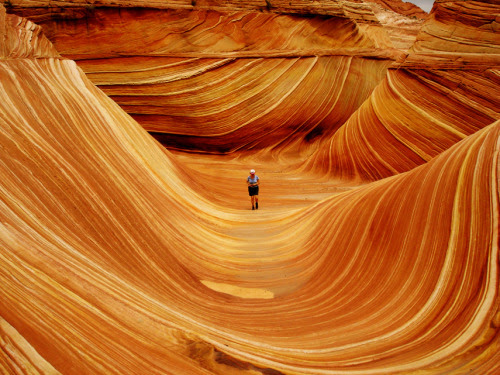 illusionwanderer:  Photo:Greg Mote/Flickr  The Wave, Arizona, U.S.   Our problems can feel insurmountable at times. Obstacles too big to overcome. Life can be one long battle. But if we persevere we can reach our goals. If we do it one step at a time, we can fulfill our dreams and even find new ones.