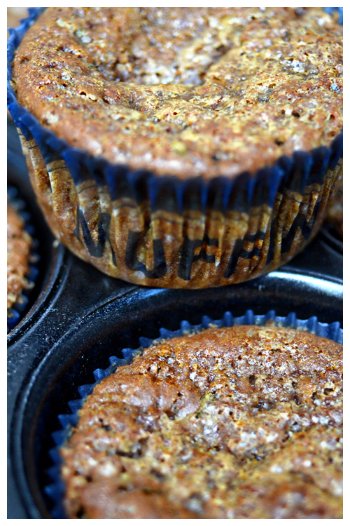 teff and nectarine muffins© by Haalo
