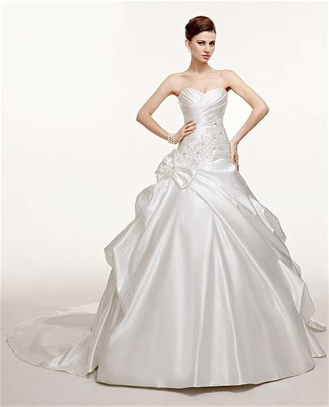 Fantastic Ball Gown Sweetheart Ruched Satin Pick Up Skirt