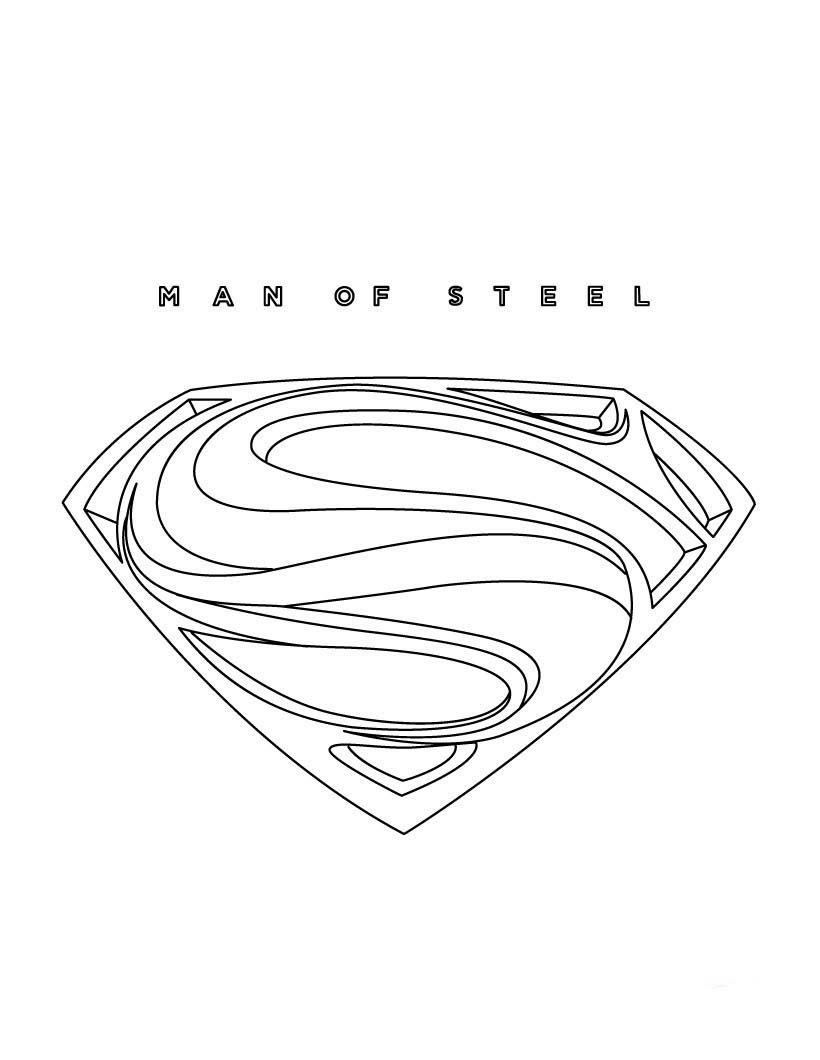Colorear Superman Logo Para Colorear Opticanovosti Viewinviteco