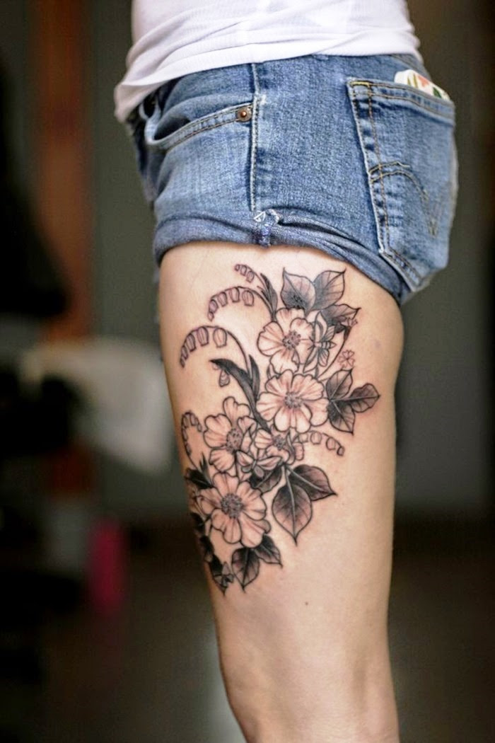 30 Women Thigh Tattoos To Try To Look Attractive - Flawssy