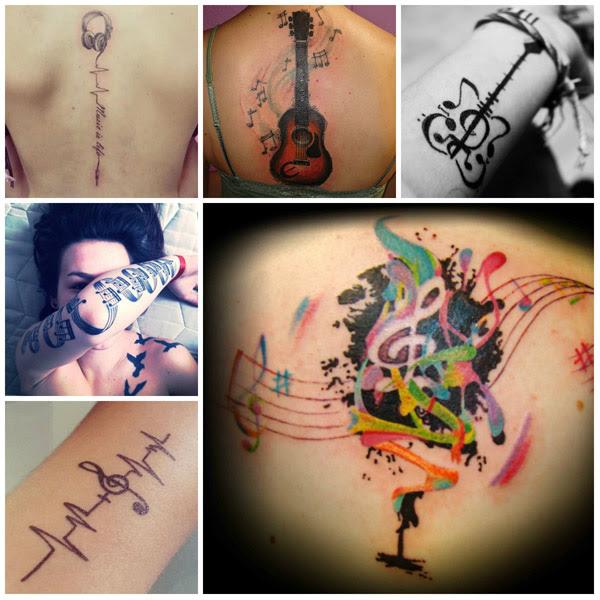 Diseños De Tatuaje De Música 2016