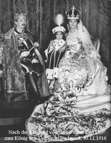 Royal Family of Hungary at Coronation December 30, 1916