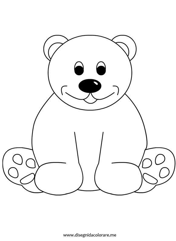 Foglio Da Colorare Orso Panda Immagini Da Colorare Pravreshcom