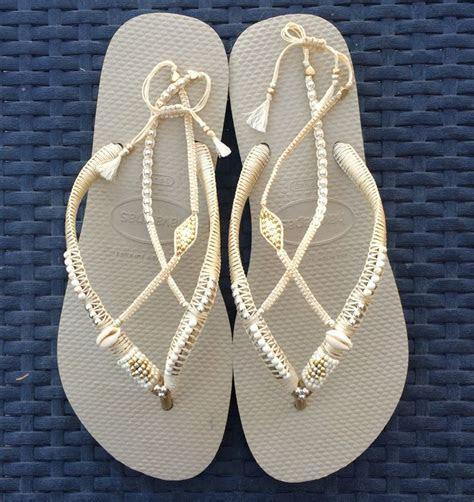 Silver & Gold Wedding Decorated Flip Flop, Sandals Flat