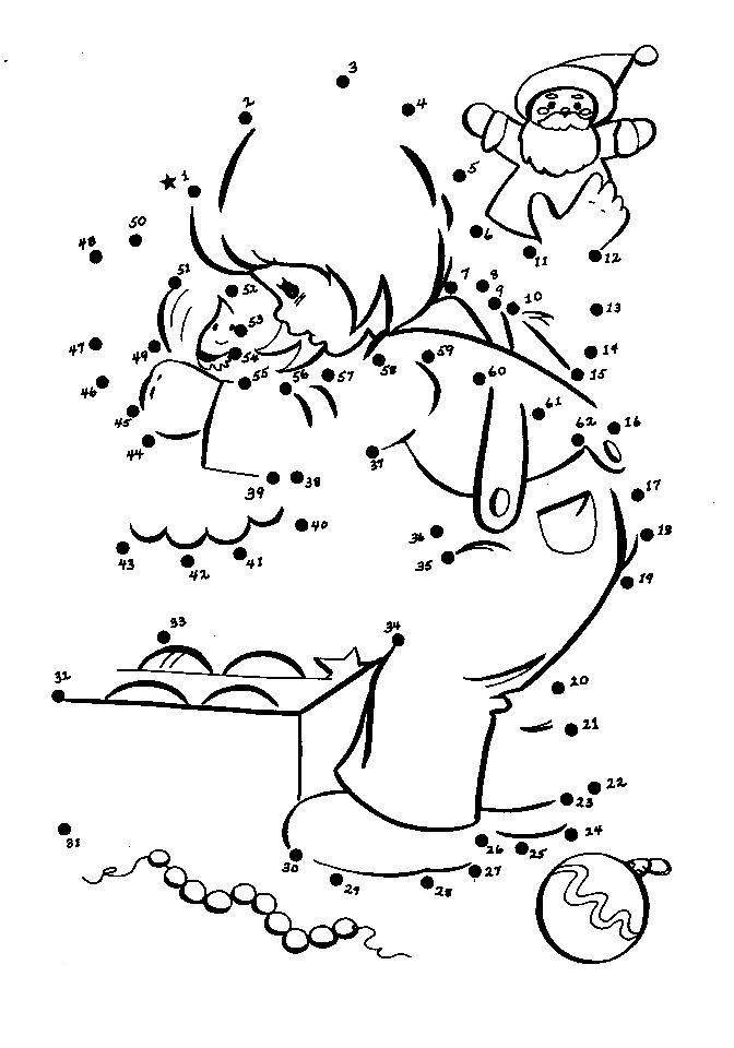 Get This Online Christmas Dot to Dot Coloring Pages 539BT