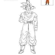 Dibujos Para Colorear Goku Es Hellokids Com