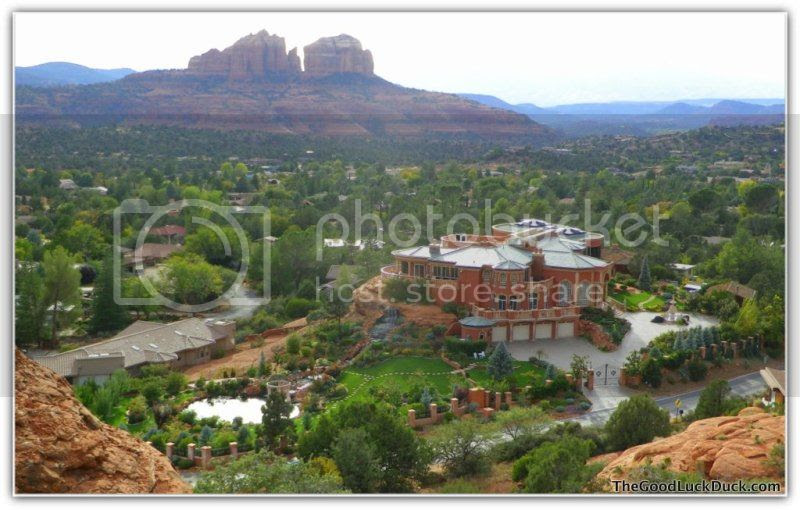 The House, view from Holy Cross, Sedona, http://thegoodluckduck.com