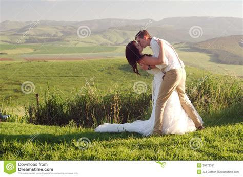 African Bride And Groom Landscape Stock Photo   Image
