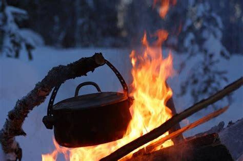 campfire  dutch oven dutch oven cooking winter