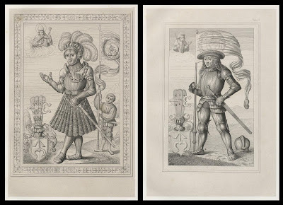 2 images of knights