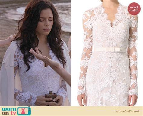 Freya?s white long sleeve lace dress on Witches of East