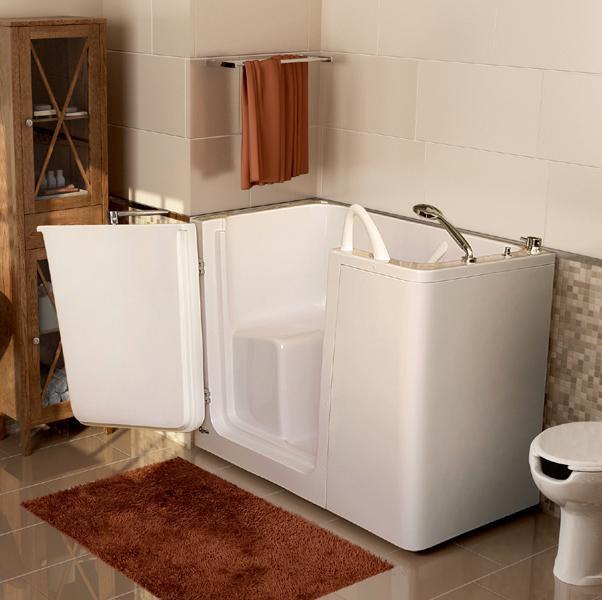 Vasca da bagno Rodi, vasca con sportello per anziani e ...