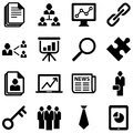 Business icons set of isolated on a white background eps Royalty Free Stock Images