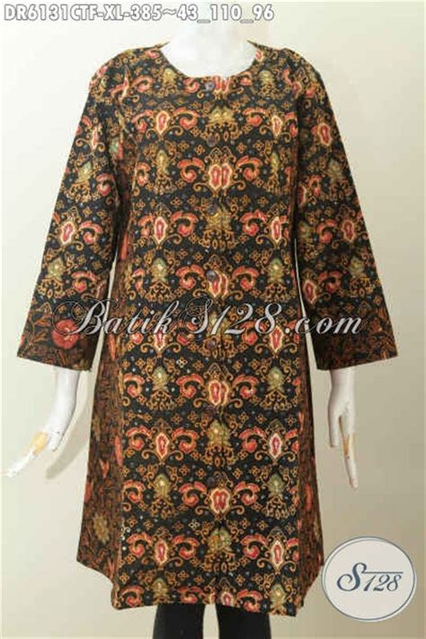 batik dress wanita dewasa baju batik ukuran xl model