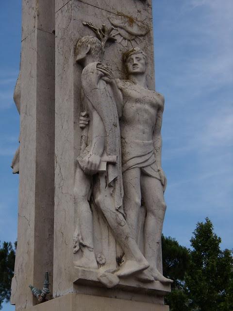 Fontana della Riconoscenza dettagli sud