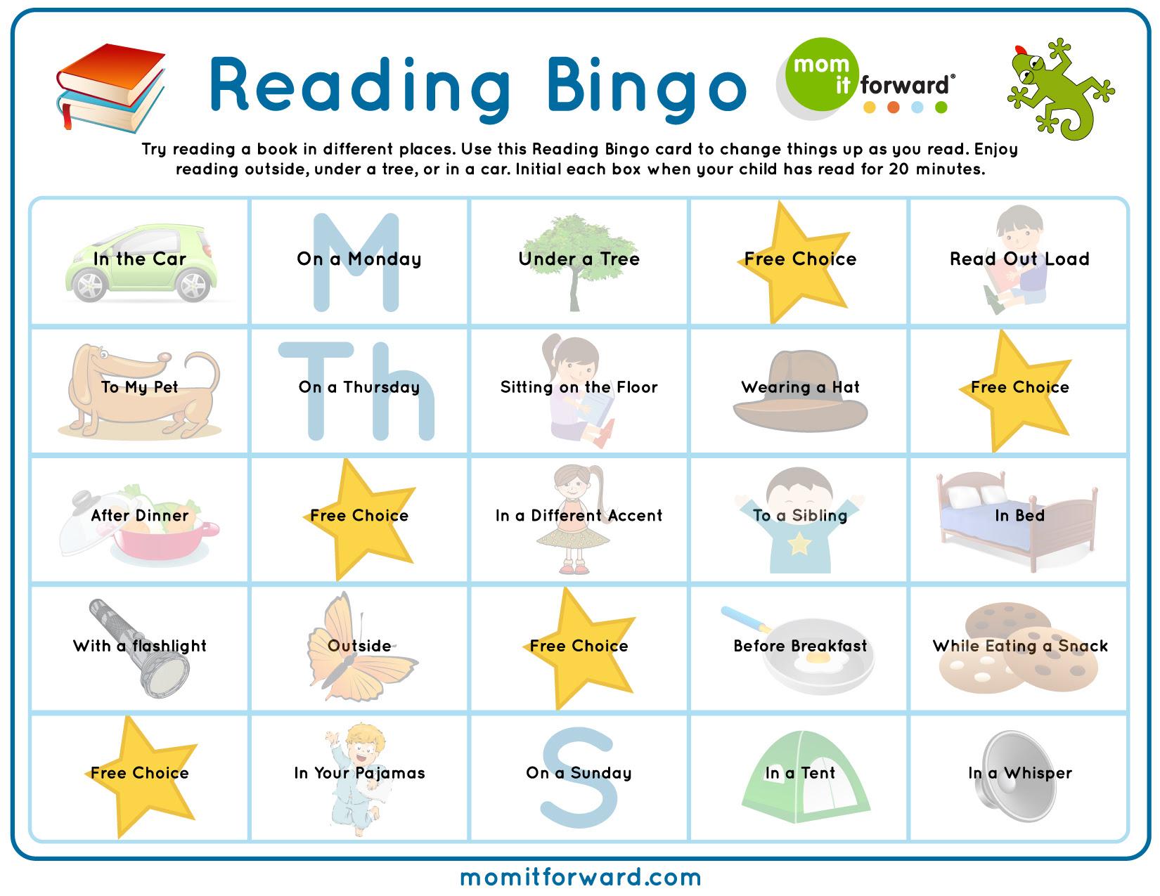 Reading Bingo Printable Mom It ForwardMom It Forward