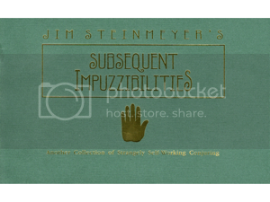 Jim Steinmeyer's Subsequent Impuzzibilities