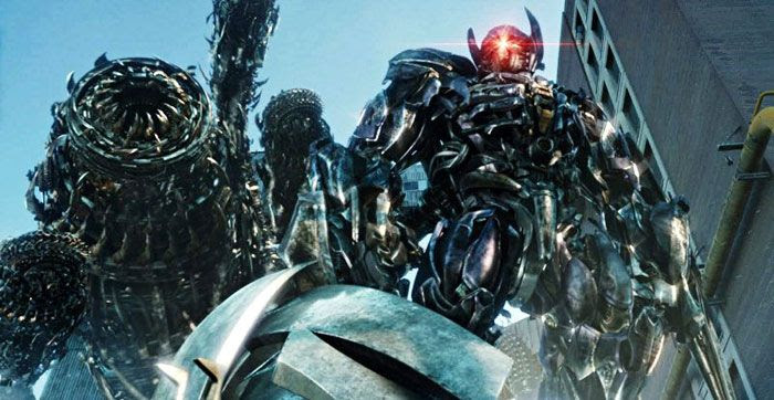 Shockwave stands menacingly atop the 'Driller' in TRANSFORMERS: DARK OF THE MOON.