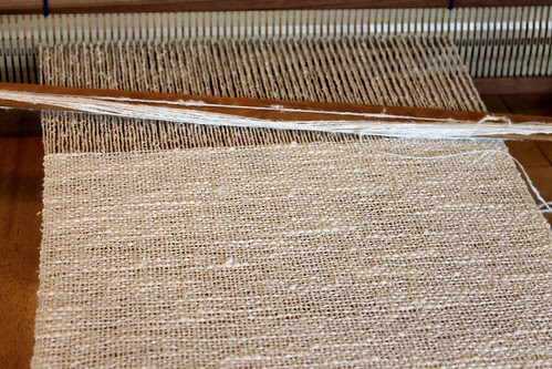 rigid heddle loom and plain, textured weave