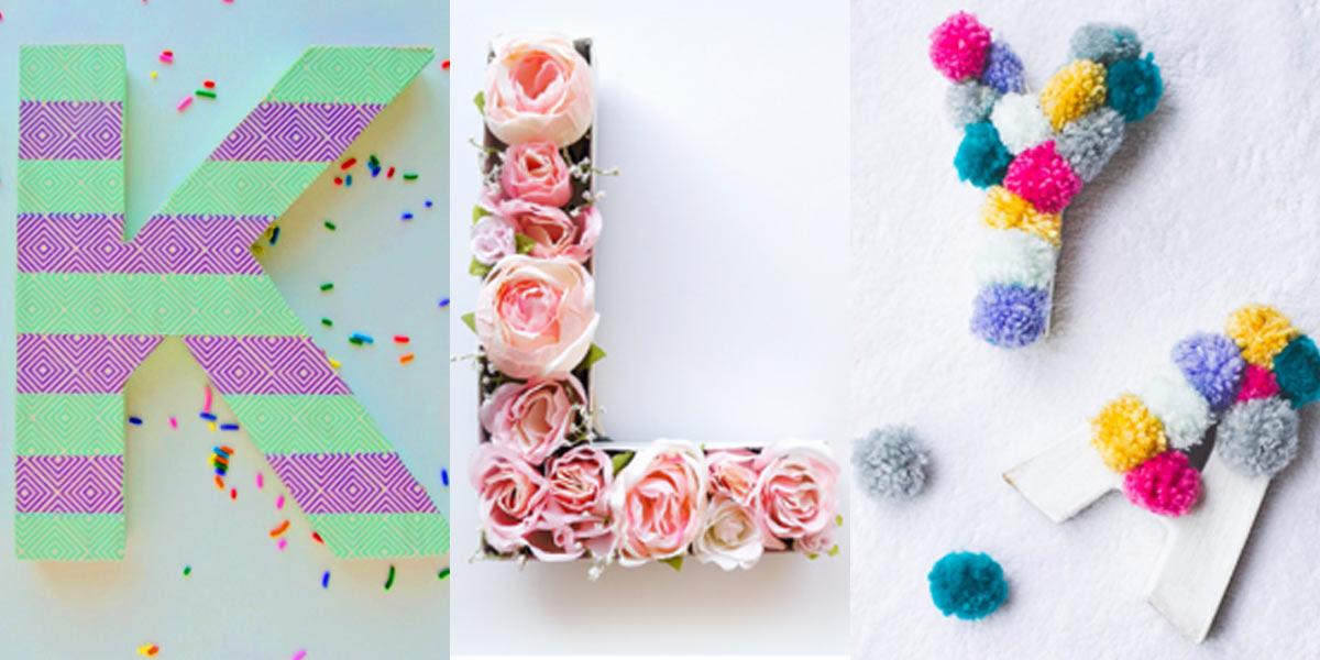 letters diy