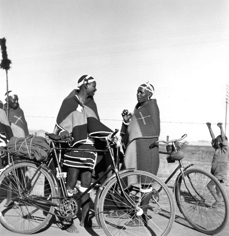 Constance Stuart Larrabee Ndebele Men with Bicycles 1936 49 eepa_1998_060858