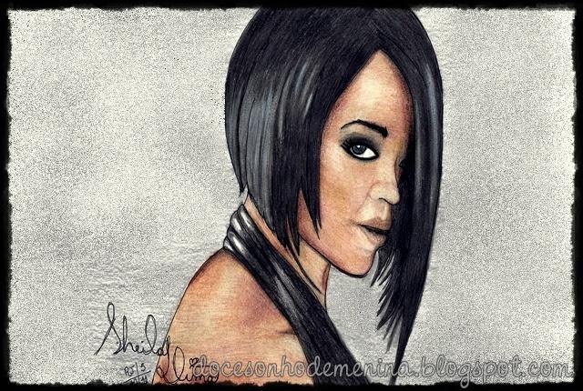 Homenagem de Quinta - Umbrella, Rihanna desenho