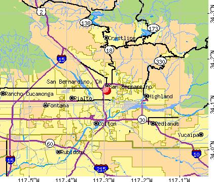 San Bernardino Ca Zip Code Map   Time Zones Map on