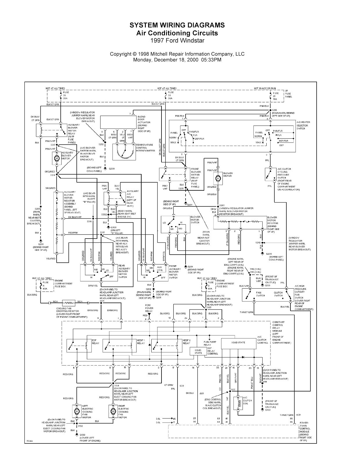 97 ford explorer headlight wiring diagram