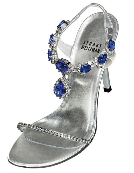 Tanzanite Heels...heels flaunt 185 carats of tanzanite and 28 carats of diamonds...Most Expensive Shoes Ever