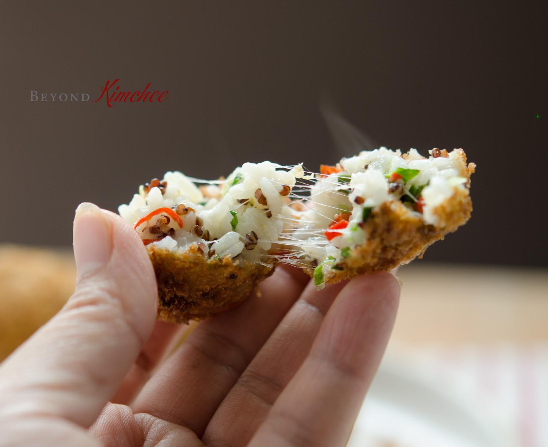 Cheesy Rice Balls | Beyond Kimchee