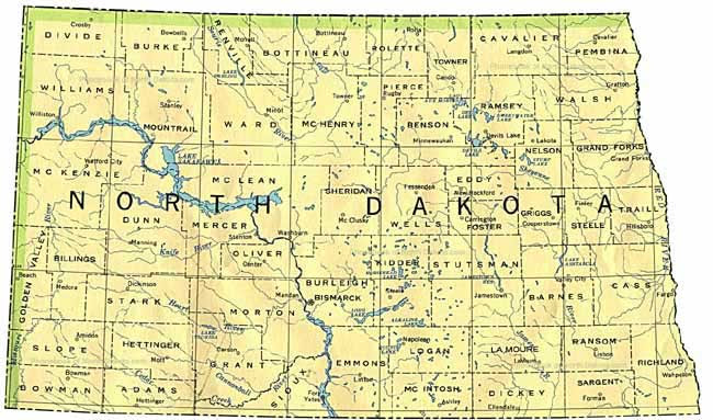 North Dakota Time Zone Map Time Zone Map North Dakota | World Map Gray