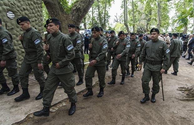 El primer contingente de Gendarmería desplegado desde ayer en las calles de Rosario