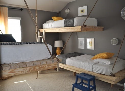 http://www.ana-white.com/2010/08/easiest-hanging-daybed.html