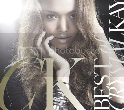 Crystal looking like a white girl on the cover of her 2nd 'Best' album 'The best of Crystal Kay'